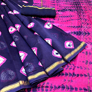 Chanderi Silk Saree -Aarav Rakhis