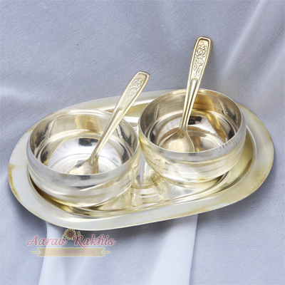 Silver Plated Brass Dry Fruit Set
