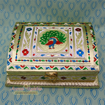 Golden Handicrafted Dry Fruit Box