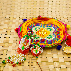 Colourful Rakhi Gift set