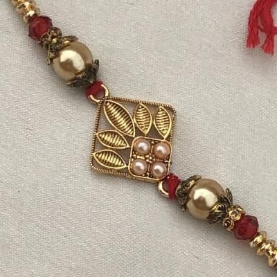 Extravagent Gold Plated Bracelet Rakhi for Raksha Bandhan