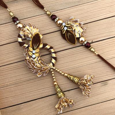 Marvelous Design Gold Patti Rakhi for Bhaiya Bhabhi