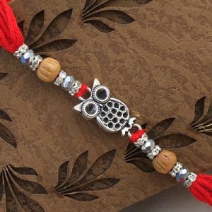 Fabulous Owl Design Cute Brother Rakhi Set for Raksha Bandhan