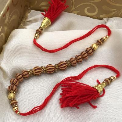 Big Designer Beads Rakhi for Raksha Bandhan