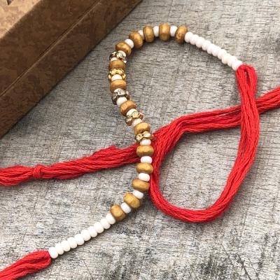 Graceful White Pearls Durable Rakhi Set for Raksha Bandhan