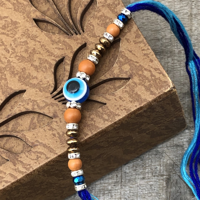 Breathtaking Evil Eye Protection Raksha Bandhan Rakhi Set