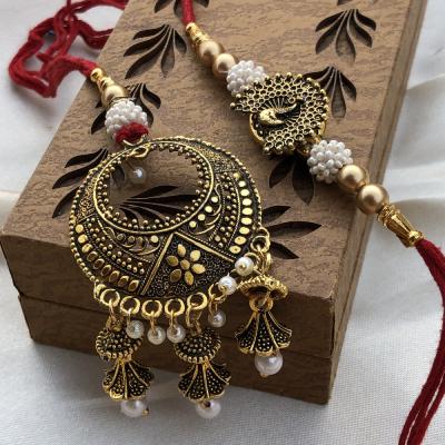 Traditional Rajasthani Lumba Rakhi Set for Raksha Bandhan