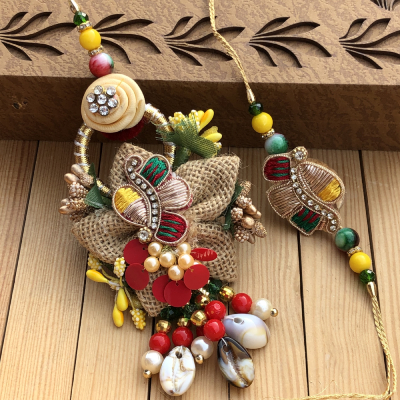 Artistic Handmade Lumba Rakhi Combo for Raksha Bandhan