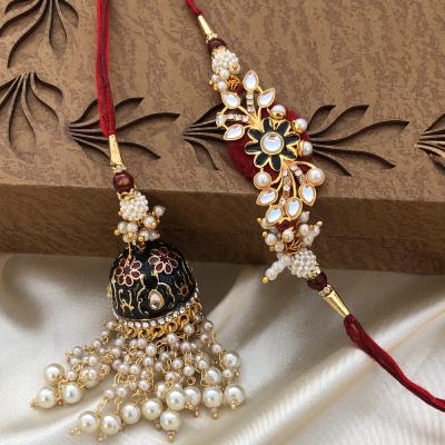 Ethnic Design Bhaiya Bhabhi Rakhi for Raksha Bandhan