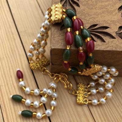 Graceful Beads Bracelet Rakhi for Brother