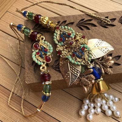 Creative Peacock Design Rakhi Set for Bhaiya Bhabhi