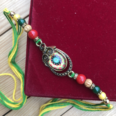 Ethnic Crafted Floral Design Rakhi for Bhaiya