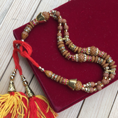 Attractive Rajasthani Look Pearl Designed Bracelet Rakhi
