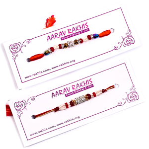 Rakhi Pooja Thali With Brother Rakhis